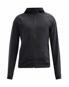 City Sweat zip-through jersey hooded sweatshirt