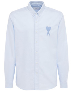 Logo Embroidered Cotton Oxford Shirt