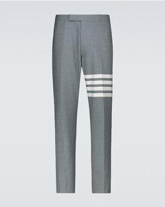 4-Bar羊毛西装裤
