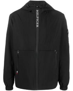 Black checked wool-blend shirt