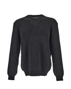 Grey cotton-blend lettering logo jumper
