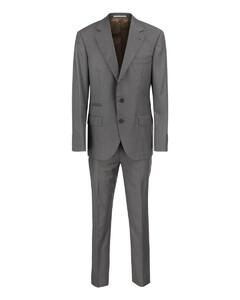 Warped logo sweatshirt in light grey