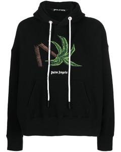 X Smiley cream printed cotton sweatshirt