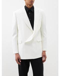 Deconstructed wool coat