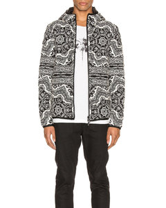 Zois Jacket in Abstract,Black,Blue