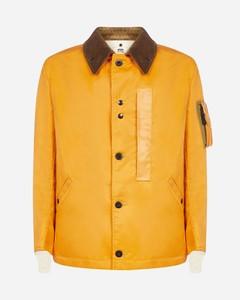 Corduroy-collar nylon twill jacket