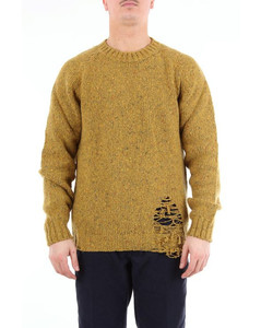 mustard-colored crew neck sweater