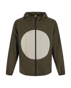 Logo-print shell hooded jacket
