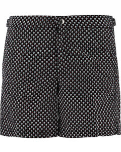 Skull Polka Dot Print Swim Shorts
