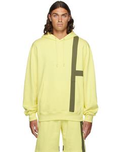 黄色Stripe连帽衫