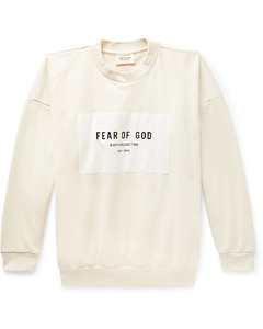 Oversized Logo-Appliquéd Loopback Cotton-Jersey Sweatshirt