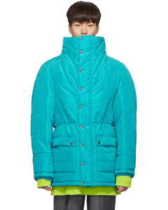 蓝色Incognito派克大衣