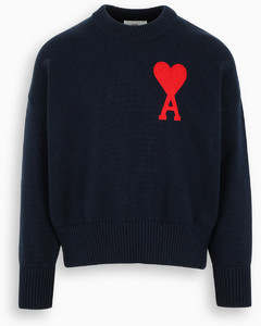 Navy Ami de Coeur oversize sweater