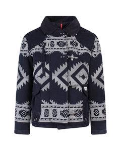 Ombrébrushed-back cotton track pants