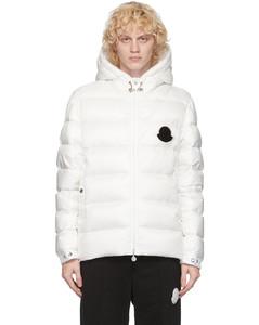 白色Sassiere羽绒夹克