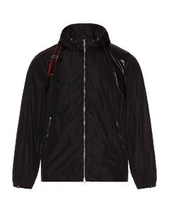 Hooded jacket in black
