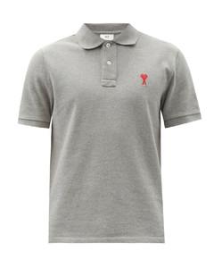 Logo-embroidered cotton-piquépolo shirt