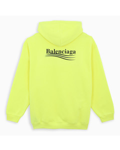 Fluo yellow/black Political Campaign hoodie