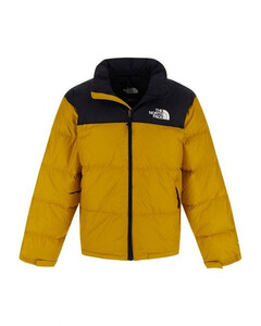 black and yellow down jacket in nylon