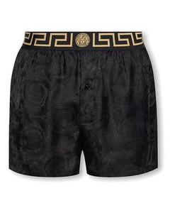 Grey logo-jacquard wool-blend overshirt