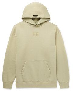 Logo-Flocked Fleece-Back Cotton-Jersey Hoodie