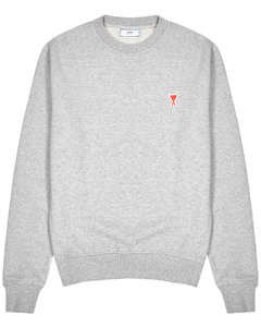 Grey mélange logo cotton sweatshirt