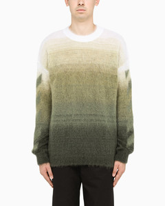 Gradient green brushed sweater