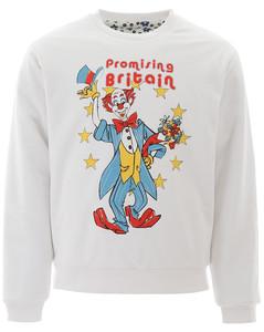 clown print reversible sweatshirt