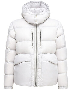 Forest Hooded Nylon Down Jacket