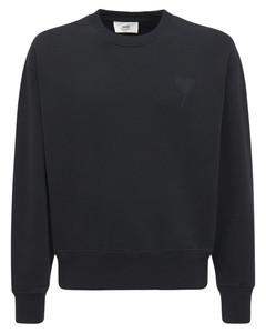 Logo Embro Boxy Cotton Jersey Sweatshirt