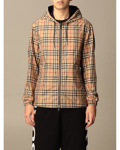reversible jacket in recycled polyester with vintage check pattern