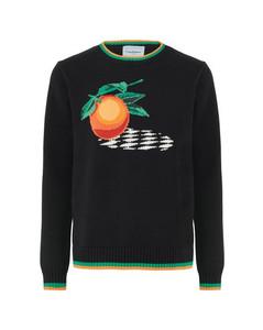Orange crew neck sweater