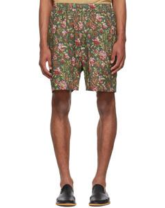 绿色Diamond再生尼龙绗缝羽绒大衣