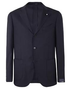 黑色Duster合成皮革大衣