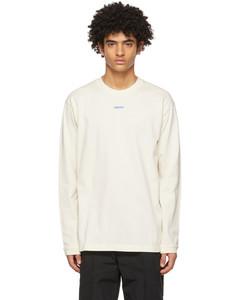 SSENSE发售灰白色XL Logo长袖T恤