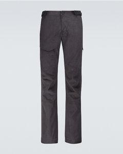 棉质拉绒工装裤