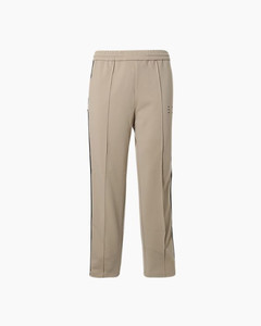 灰色九分羊毛长裤