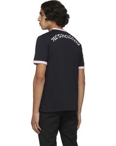 Contrast-appliquéhooded cotton-blend coat