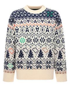 Jacquard Wool Knit Sweater