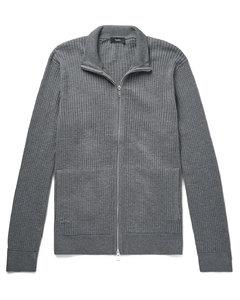 Amadeo Waffle-Knit Cotton Zip-Up Cardigan