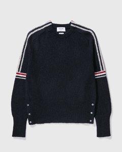 Intarsia Tweed Pullover