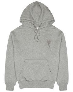 Grey hooded cotton sweatshirt