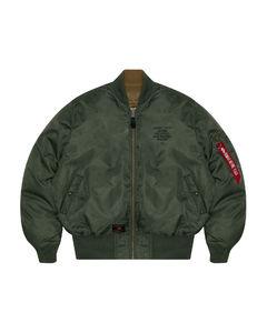 Logo down bomber jacket