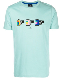 Tricolor-fox-patch striped cotton t-shirt