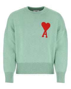 Mint green cotton blend sweater