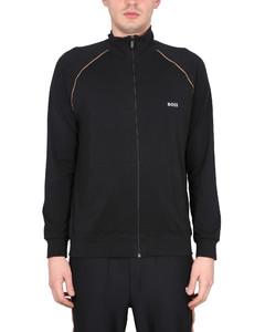herringbone single-breasted blazer