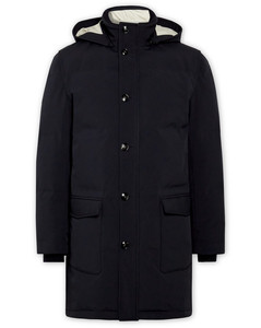Quilted Shell Hooded Down Parka