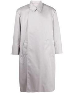 light grey flap coat grey