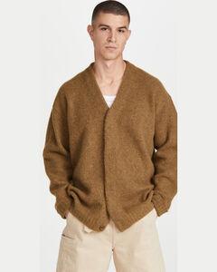超大系扣羊毛衫
