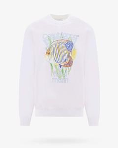 Appliquéd Panelled Cotton-Blend Sweater